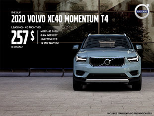 Volvo XC40 Promotion - August 2019