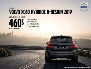 Rabais Volvo XC60 hybride - Août 2019