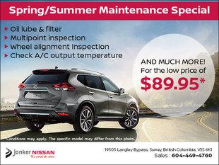 Spring & Summer Service Special