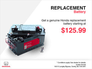 Replacement Battery Special