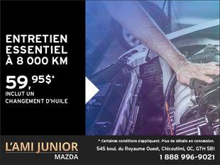 Entretien essentiel à 8 000 km