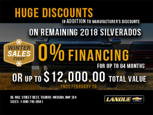 2018 Silverado Clear Out Event