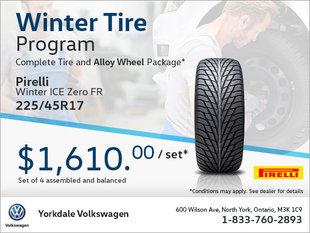 225/45R17 Tire & Alloy Wheel Package
