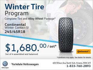 245/45R18 Tire & Alloy Wheel Package