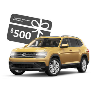 Buy an Atlas or Tiguan to get a $500 gift card!