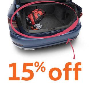 15% off all Volkswagen trunk liners