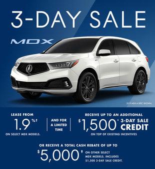 Acura MDX 3-day Sale