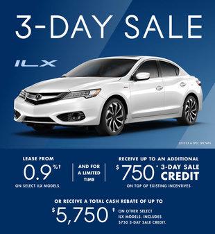 Acura ILX 3-day Sale