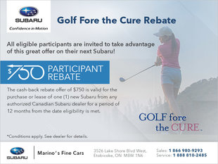 Golf Fore the Cure Rebate