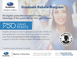 Subaru Graduate Rebate Program