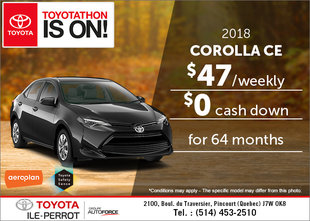 Save on the 2018 Toyota Corolla!