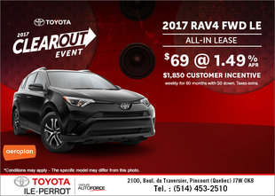Save on the 2017 Toyota RAV4 Today!