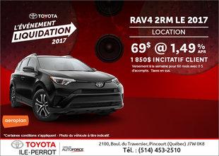 Le VUS Toyota RAV4 2017 en rabais