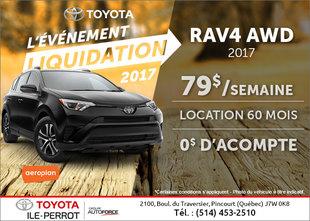 Le Toyota RAV4 2017 en rabais!