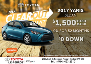 Save on the 2017 Toyota Yaris!