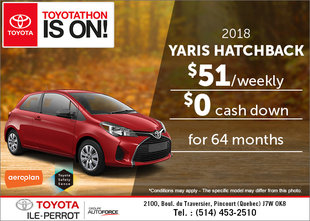 Save on the 2018 Toyota Yaris!