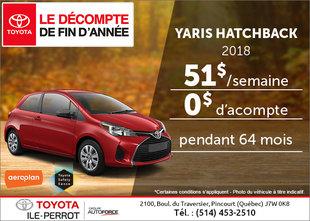La Toyota Yaris 2018 en rabais!