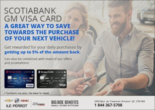 Scotia Bank GM Visa Card