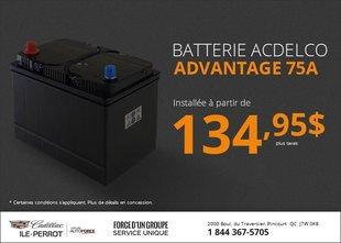 Batterie Acdelco Advantage 75A
