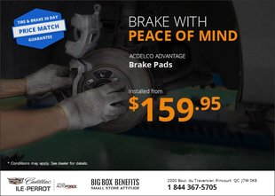 Brake Pads from $159.95