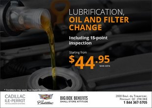 Lubrification, Oil and Filter Change from $44.95