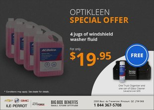 4 Optikleen Jugs for $19.95