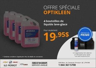 4 bouteilles Optikleen pour 19,95$