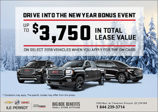 Drive Into the New Year Bonus Event - GMC