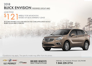 Save on the 2018 Buick Envision!