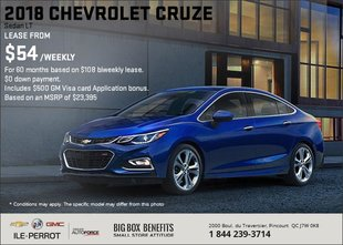 Save on the 2018 Chevrolet Cruze