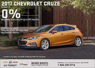 Save on the 2017 Chevrolet Cruze 5-Door LT