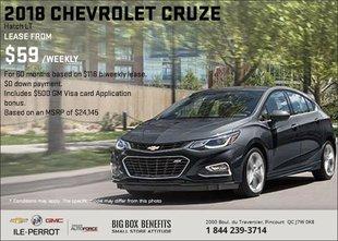 Save on the 2018 Chevrolet Cruze 5-Door