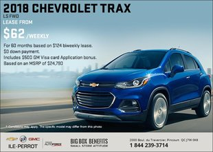 Save on the 2018 Chevrolet Trax