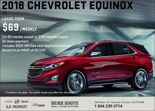 Save on the 2018 Chevrolet Equinox