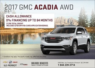 Save on the 2017 GMC Acadia