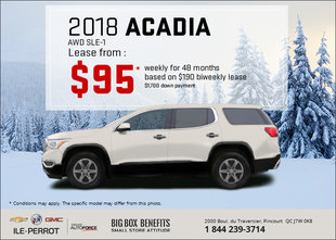 Get the 2018 GMC Acadia today!