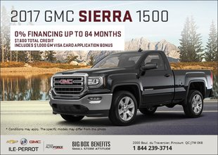 Save on the GMC Sierra 1500 2017