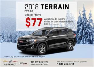 Get the 2018 GMC Terrain Today!