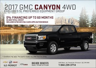 Save on the 2017 GMC Canyon 4WD