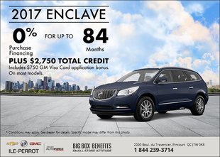 Save on the 2017 Buick Enclave!