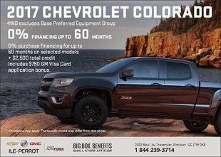Big Savings on the 2017 Chevrolet Colorado 2017