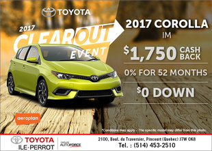 Save on the 2017 Corolla iM!