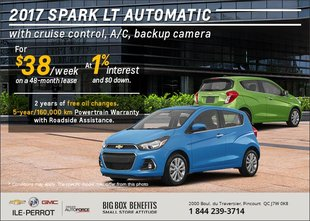 Get the 2017 Spark LT Today!