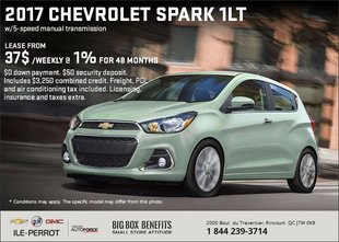 Save on the 2017 Chevrolet Spark!