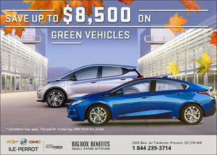 Save Up to $8,500 on Green Vehicles