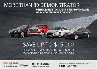 Save Up to $15,000 on Demonstrator Vehicles!