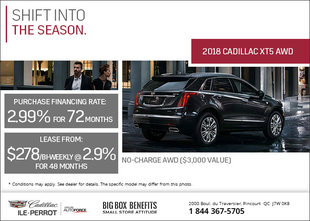 Save on the 2018 Cadillac XT5 Today