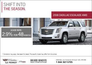 Get the 2018 Cadillac Escalade Today