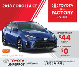 Corolla CE : Factory event