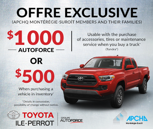 Exclusive offer for APCHQ members